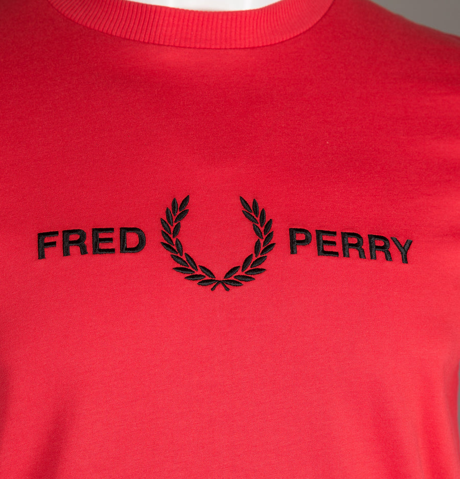 Fred Perry Graphic T-Shirt Hibiscus Pink