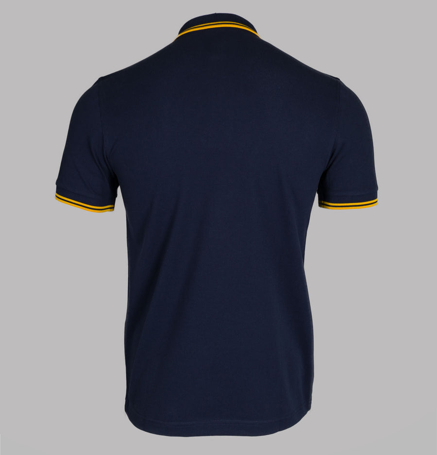 Fred Perry M3600 Polo Shirt Carbon Blue/Yellow