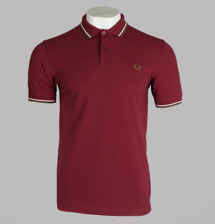 Fred Perry M3600 Polo Shirt Maroon