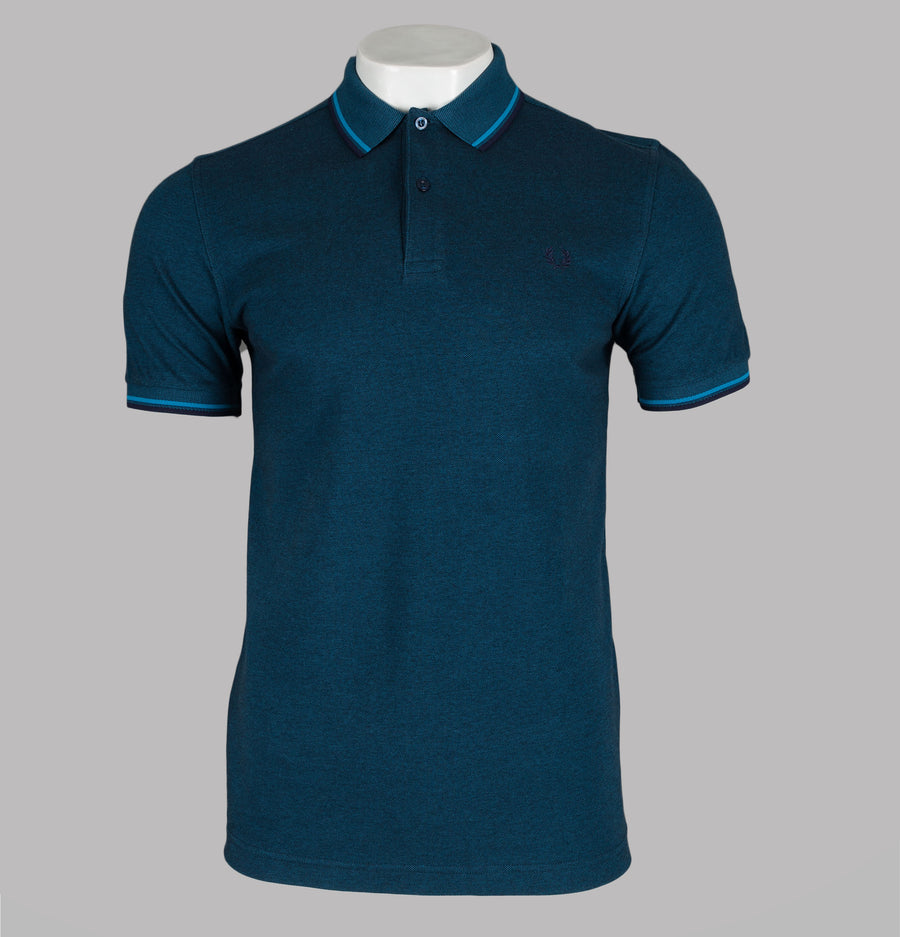 Fred Perry M3600 Polo Shirt Moroccan Navy Oxford