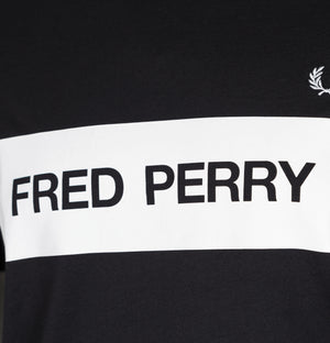 Fred Perry Mono Graphic T-Shirt Black