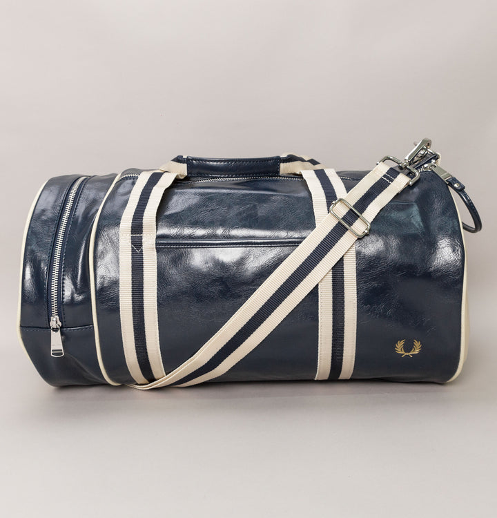 New Classic Barrel Bag - Navy/Ecru