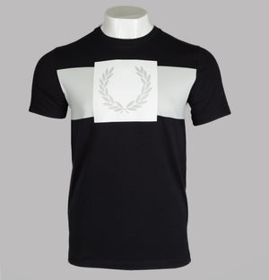 Fred Perry Printed Laurel Wreath T-Shirt Black