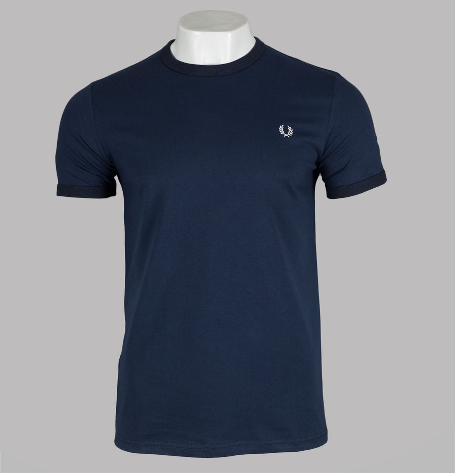 Fred Perry Ringer T-Shirt Dark Night