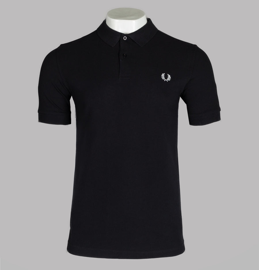Fred Perry Taped Side Polo Shirt Black