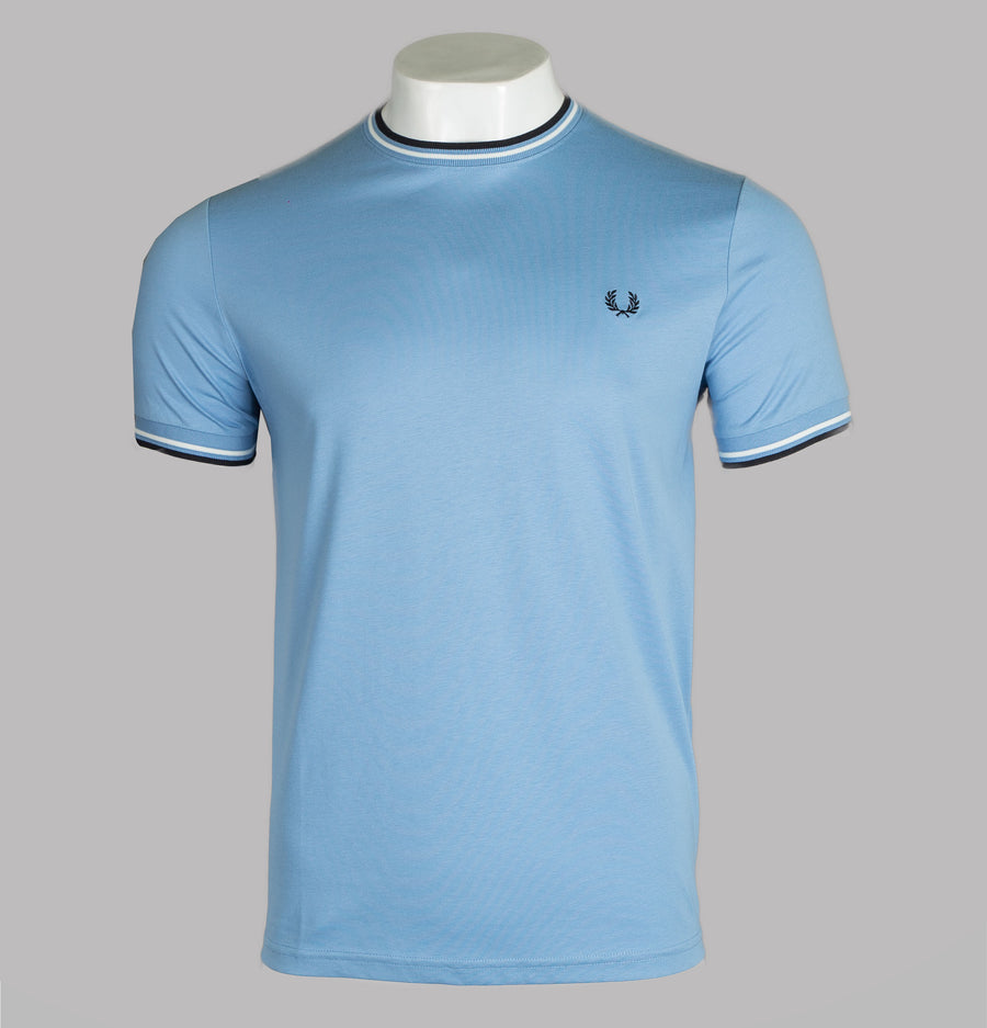 Fred Perry Twin Tipped T-Shirt Sky Blue