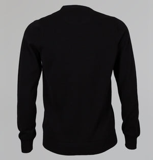 Lacoste Crew Neck Cotton Knit Sweater Black