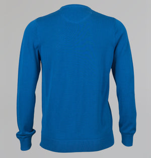 Lacoste Crew Neck Cotton Knit Sweater Sapphire