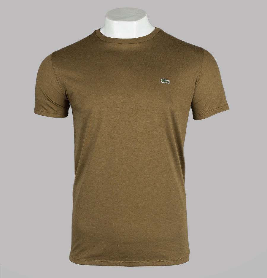 Lacoste Crew Neck Pima Cotton T-Shirt Soldier Green