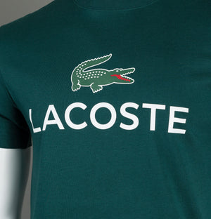Lacoste Large Croc Print T-Shirt Green