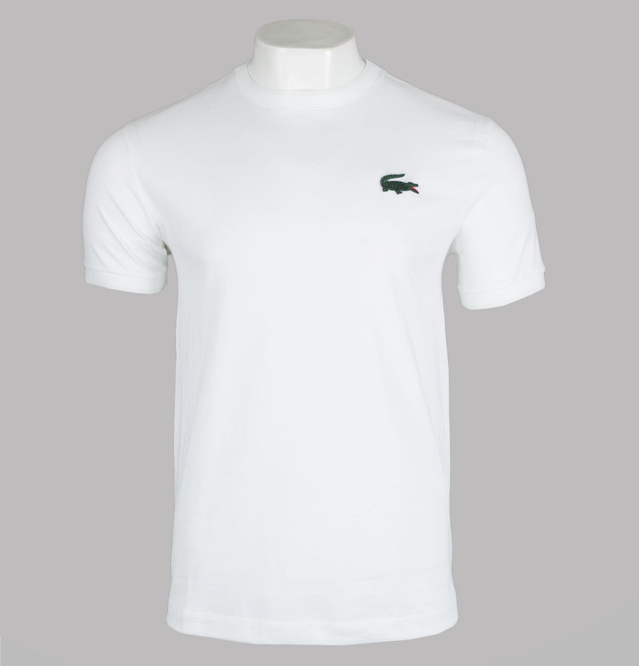 Lacoste Lettering Crew Neck T-Shirt White