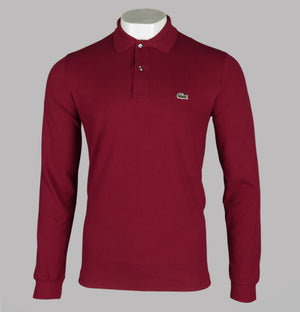 Lacoste Long Sleeve Polo Shirt Bordeaux