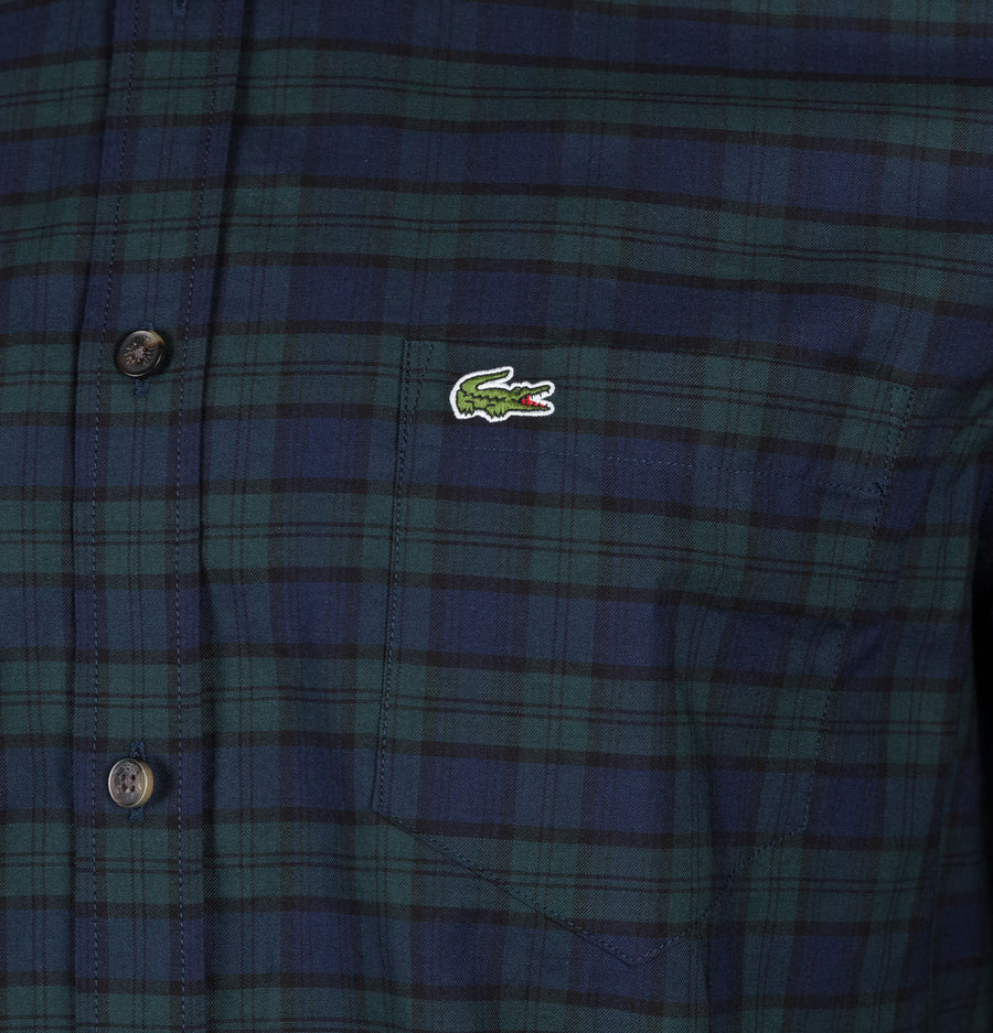 Lacoste Motion Regular Fit Check Shirt Navy