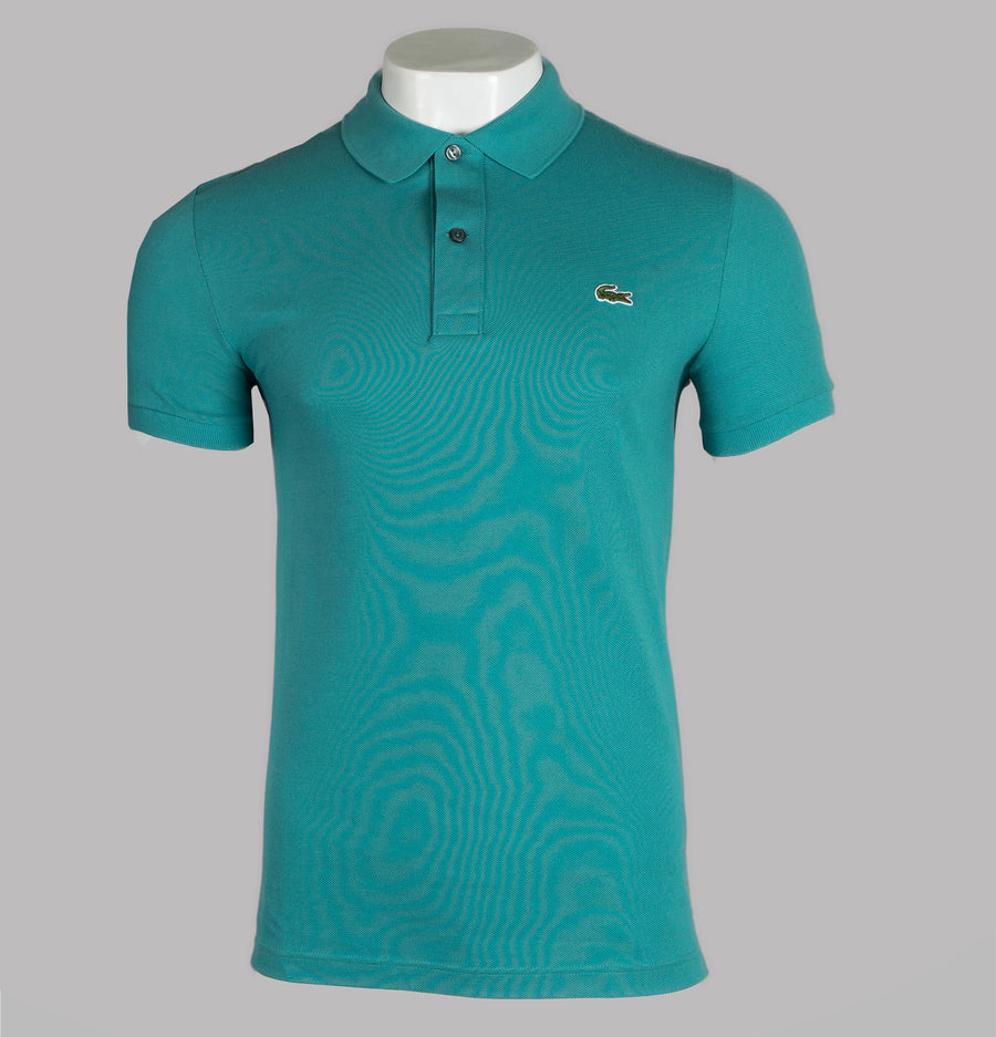 Lacoste Slim Fit Short Sleeve Polo Shirt Teal Blue