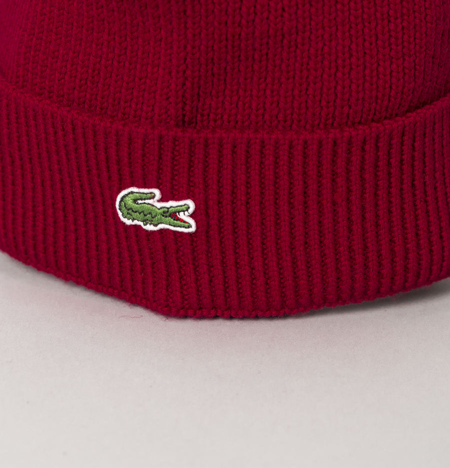 Lacoste Wool Knit Beanie Bordeaux