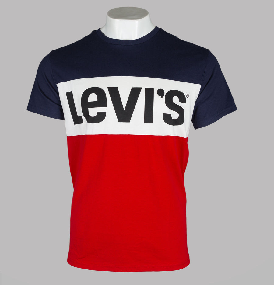 Levi's® Colour Block T-Shirt Navy