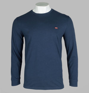 Levi's® Long Sleeve Original Logo T-Shirt Dress Blue