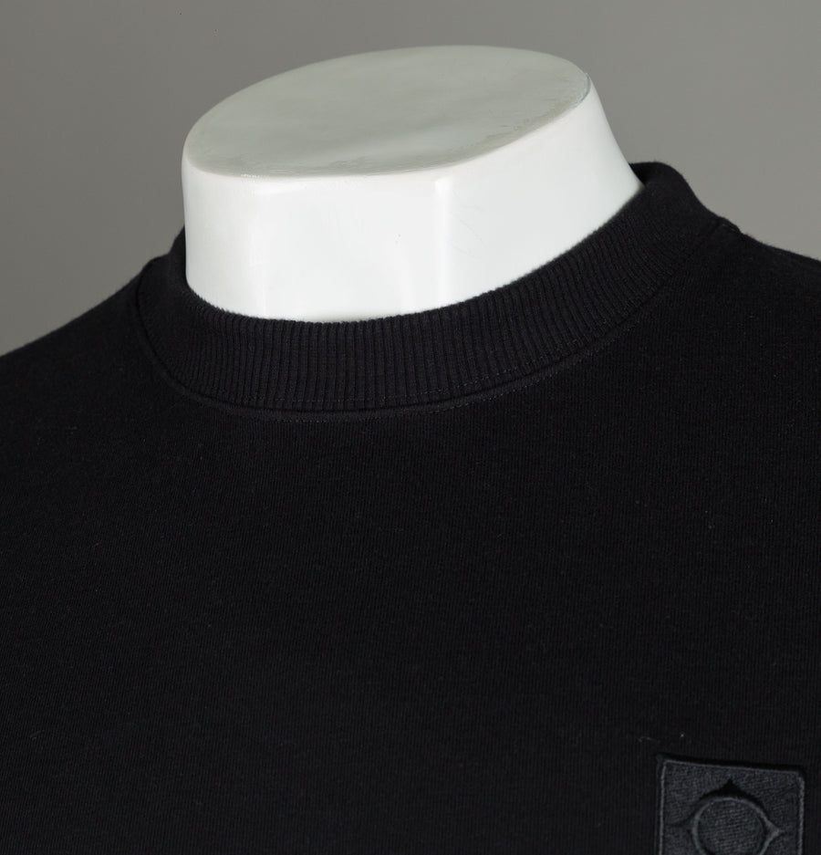 Ma.Strum Crew Track Sweat Jet Black