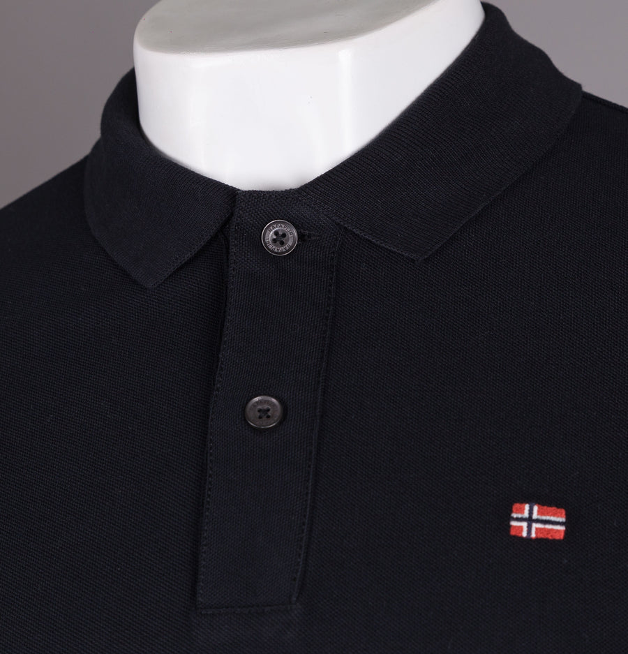 Napapijri Enoos Short Sleeve Polo Shirt Black