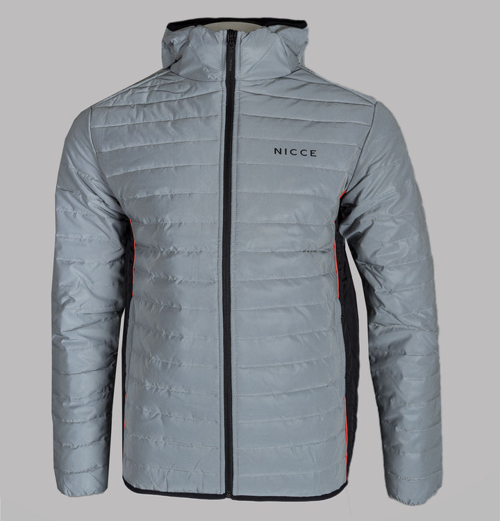 Nicce Chromo Hooded Jacket Silver