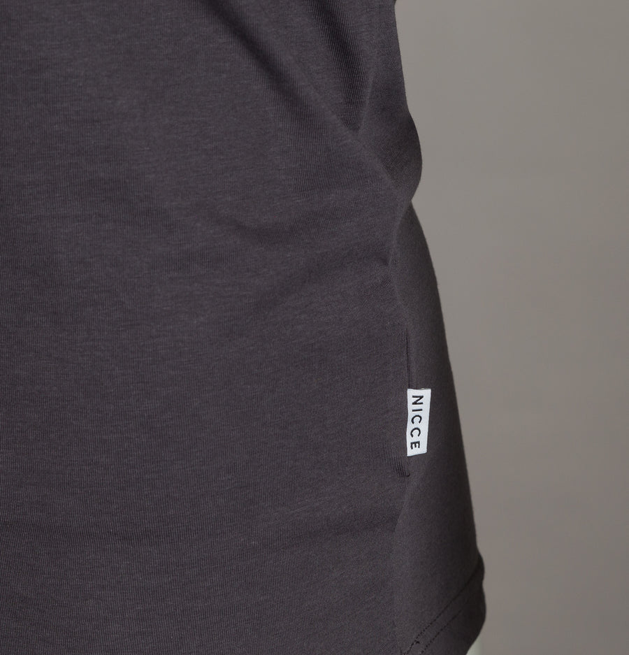 Nicce Original Logo T-Shirt Coal Grey