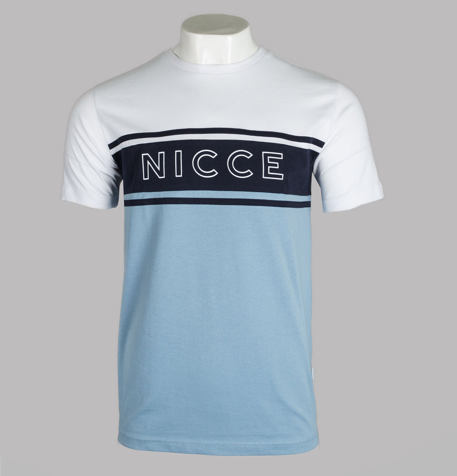 Nicce Panel T-Shirt Deep Navy