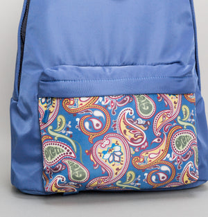 Paisley Pocket Backpack - Bright Blue