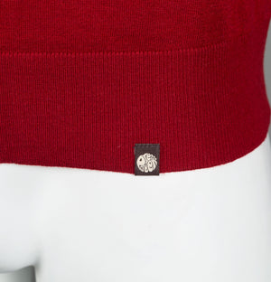 Pretty Green Crew Neck Knitted Jumper Red