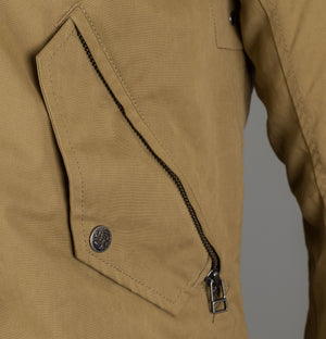 Pretty Green Hooded Parka With Padded Lining Light Khaki