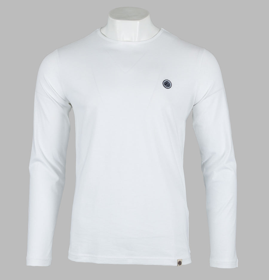 Pretty Green Mitchell L/S T-Shirt White
