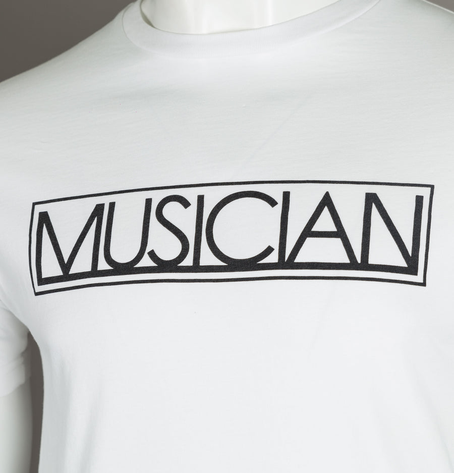 Pretty Green Musician Print Short Sleeve T-Shirt White