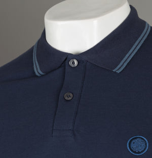 Pretty Green Tipped Pique Polo Shirt Navy