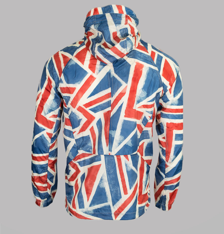 Pretty Green Union Jack Overhead Hooded Jacket Red