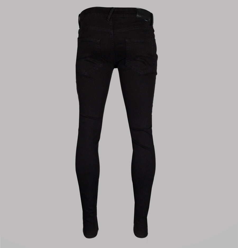Religion Hero Super Skinny Jeans Jet Black