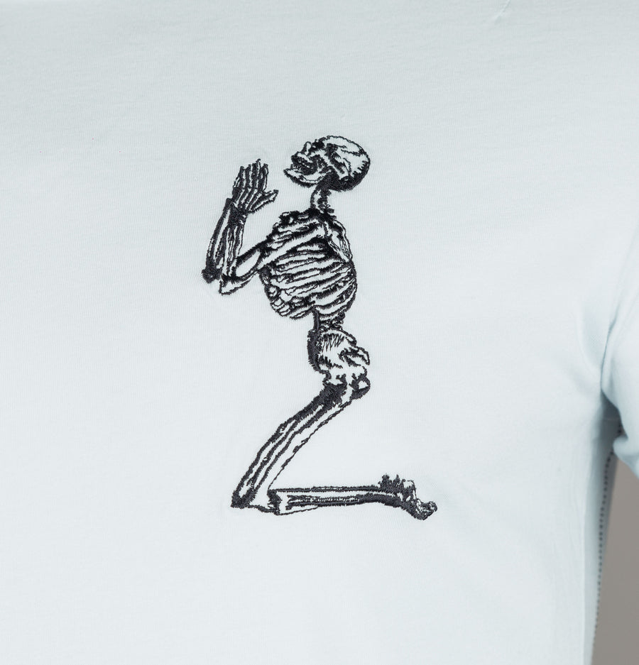 Religion Praying Skeleton Longline T-Shirt Air