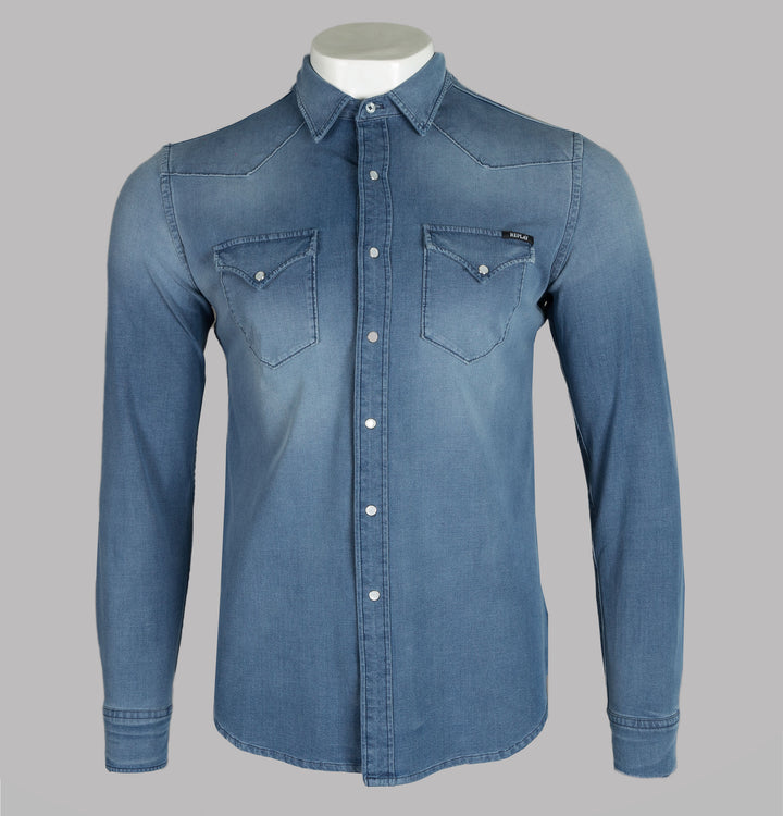 Hyperflex Slim Fit Denim Shirt