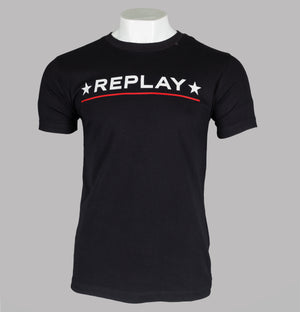 Replay Star Logo T-Shirt Black