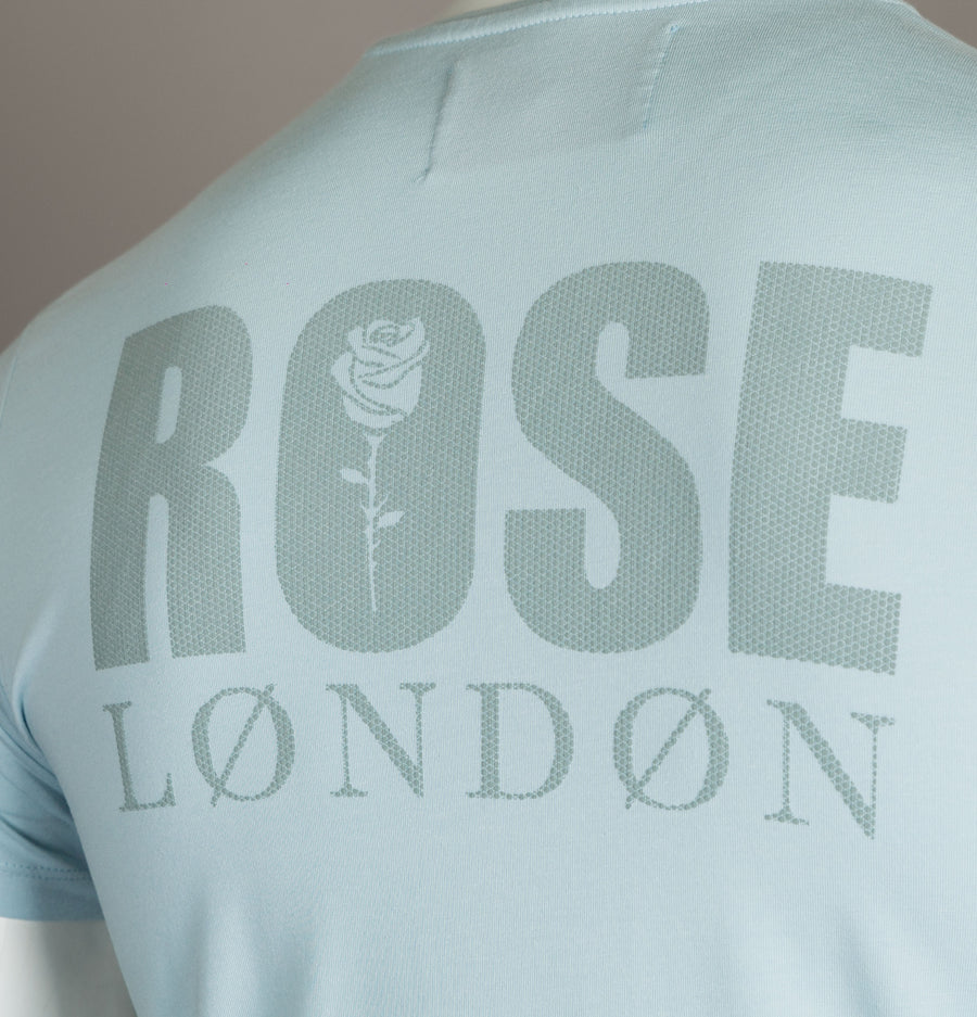 Rose London Back Graphic T-Shirt Sky Blue