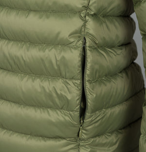 Sergio Tacchini Ives Hooded Down Jacket Olive Green