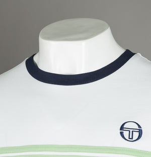 Sergio Tacchini Supermac 3 T-Shirt White/Quiet Green