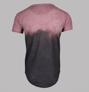 Sik Silk S/S Curved Hem Faded Tee Antique