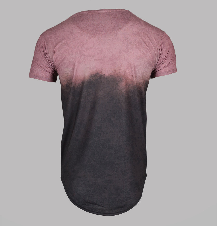 S/S Curved Hem Faded Tee