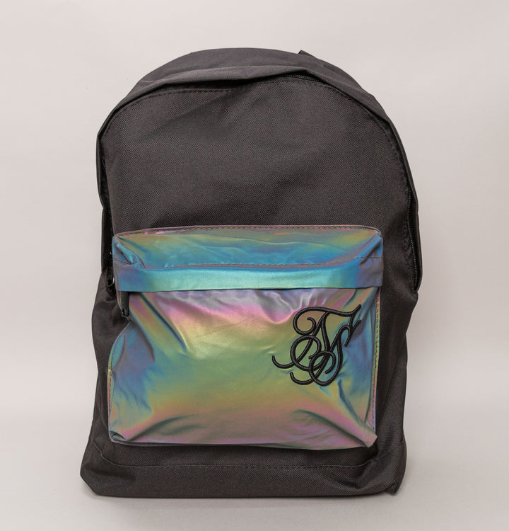 Iridescent Pocket Backpack - Black