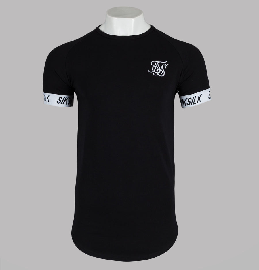 Sik Silk S/S Raglan Tech Tee Black