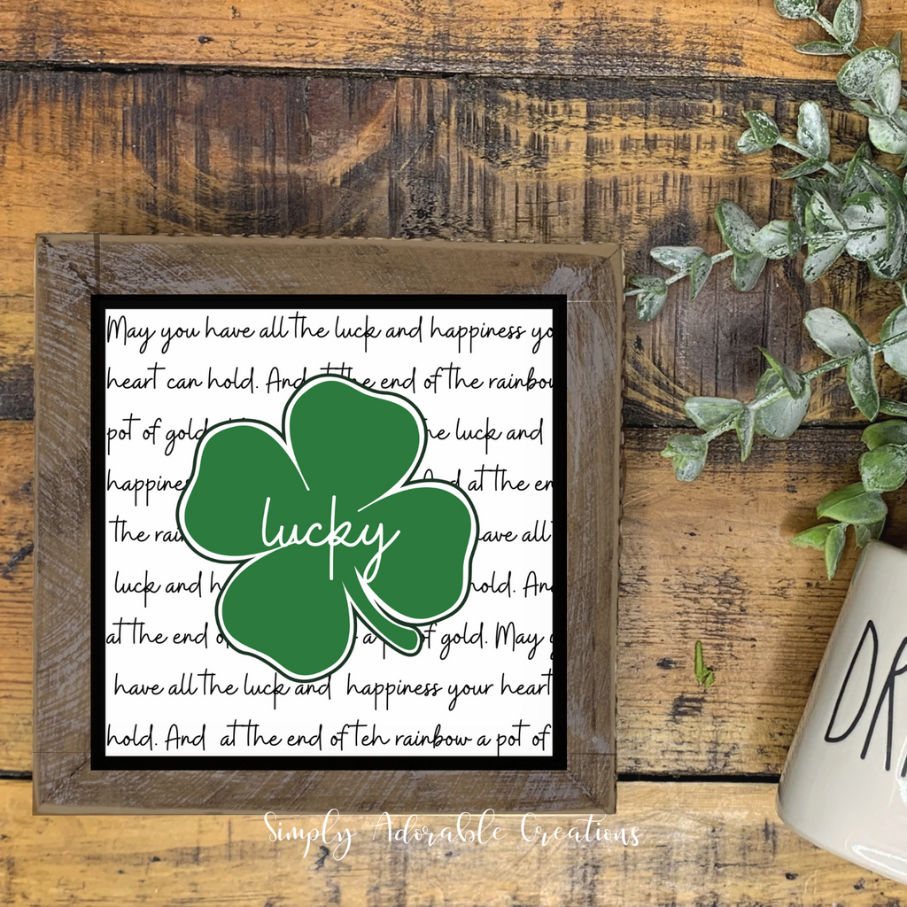 DIY St Patrick's Day Tiered Tray Sign
