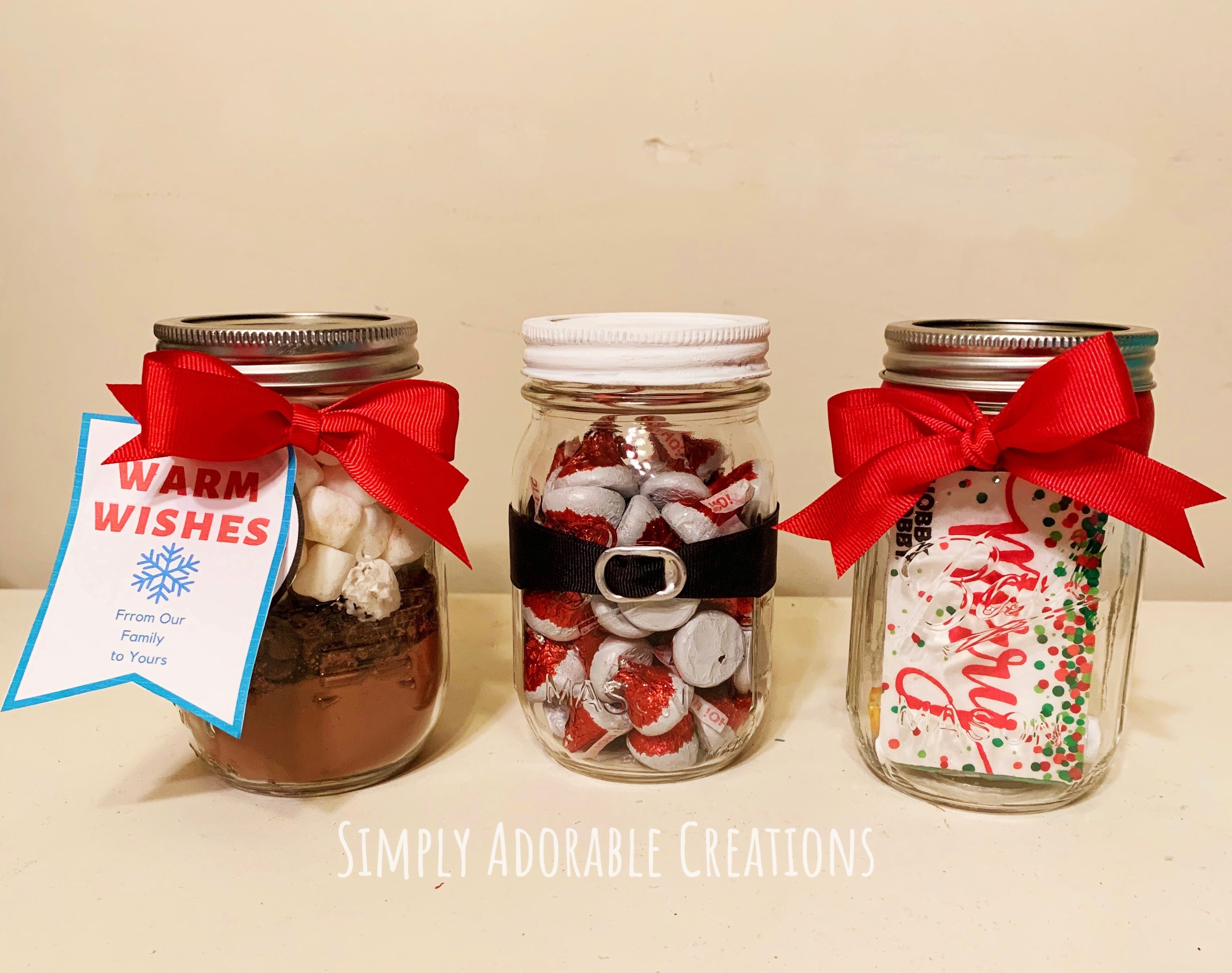 3 Mason Jar Christmas Gift Ideas Simply Adorable Creations