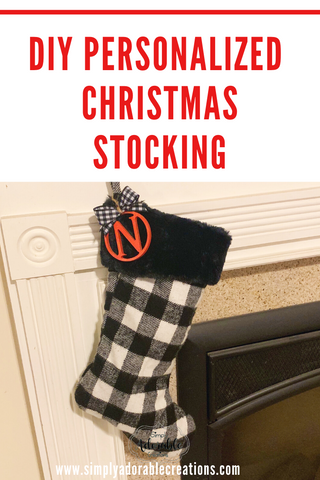 DIY Personalized Christmas Stocking