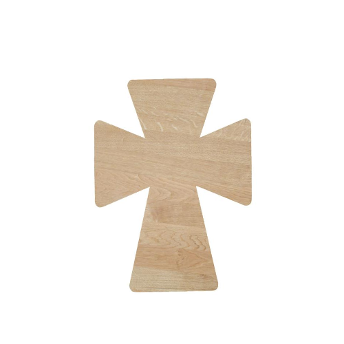 Unfinished Cross Cutout, DIY Door Hanger, Wood Blank