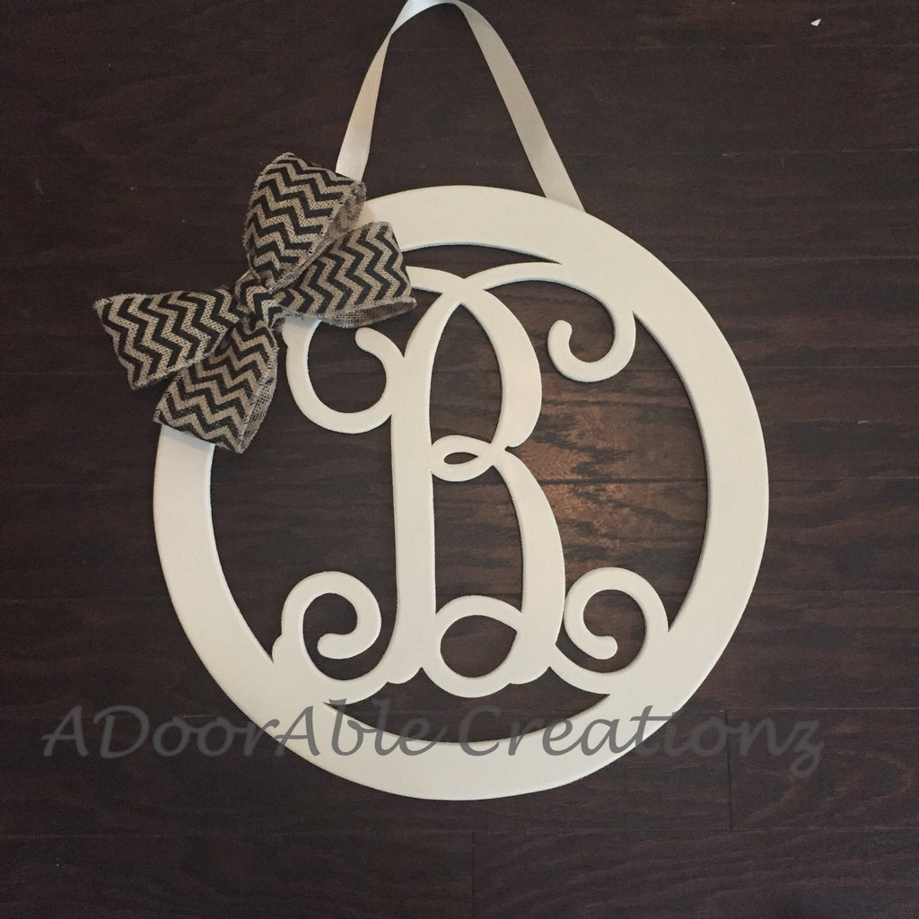 Additional Bow for Circle Monogram Door Hanger with Side Bow - Simply Adorable Creations