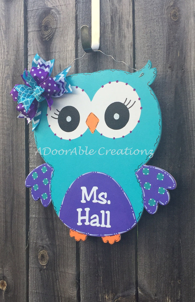Teacher Owl Door Hanger Faster Processing - Simply Adorable Creations